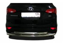 Защита заднего бампера двойная d60/42 для Hyundai Santa Fe (2013-)
