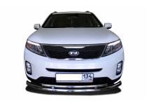 Защита переднего бампера двойная d60/42 для Kia Sorento (2013-)