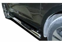Пороги труба с проступью d76 для Kia Sportage (2010-2013)