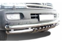 """Защита переднего бампера """"акула"""" d76/60/42 для Toyota Land Cruiser 100 (1997-2008)"""