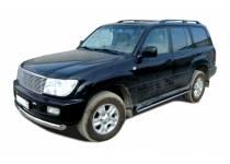 Защита штатного порога d42 для Toyota Land Cruiser 100 (1997-2008)