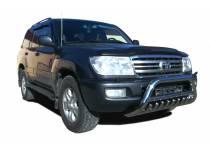 Кенгурятник низкий с защитой d76/60/42 для Toyota Land Cruiser 100 (1997-2008)
