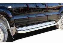 Пороги с накладным листом d76 для Toyota Land Cruiser 120 (2003-2009)