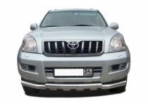 Защита переднего бампера двойная d76/76 для Toyota Land Cruiser 120 (2003-2009)