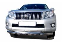 Защита переднего бампера двойная d76/76 для Toyota Land Cruiser 150 (2010-2013)