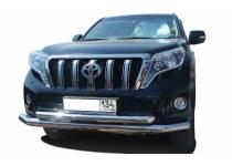 Защита переднего бампера двойная d76/60 для Toyota Land Cruiser 150 (2014-)