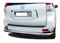 Защита заднего бампера увеличенная угловая d76/42 для Toyota Land Cruiser 150 (2014-)