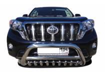Кенгурятник низкий с защитой d76/60/42 для Toyota Land Cruiser 150 (2014-)