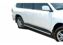 Защита штатного порога d42 для Toyota Land Cruiser 200 (2007-2012)