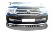 """Защита переднего бампера """"акула"""" d76/60/42 для Toyota Land Cruiser 200 (2007-2012)"""