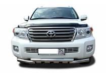 Защита переднего бампера двойная d76/76 для Toyota Land Cruiser 200 (2012-2015)