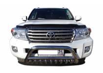 Кенгурятник низкий с защитой d76/60/42 для Toyota Land Cruiser 200 (2012-2015)