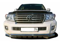 Защита переднего бампера двойная (5 зубьев) d76/76 для Toyota Land Cruiser 200 (2012-2015)