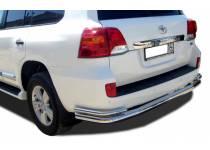 Защита заднего бампера увеличенная угловая d76/42 для Toyota Land Cruiser 200 (2012-2015)