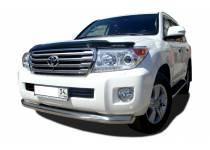 Защита переднего бампера d76 для Toyota Land Cruiser 200 (2012-2015)