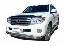 Защита переднего бампера двойная d76/60 для Toyota Land Cruiser 200 (2012-2015)
