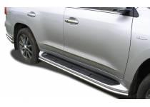 Защита штатного порога d42 для Lexus LX570 (2012-2014)