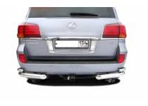 Уголки двойные d76/42 для Lexus LX570 (2012-2014)