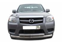 Защита переднего бампера двойная d76/60 для Mazda BT-50 (2007-2012)