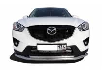Защита переднего бампера двойная d60/42 для Mazda CX 5 (2011-)