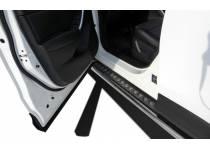 Пороги с накладным листом d53 для Mazda CX 5 (2011-)