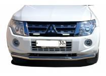 Защита переднего бампера d76 для Mitsubishi Pajero 4 (2006-2011)