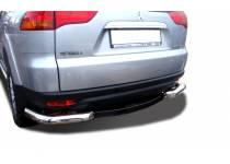 Уголки d76 с доп. накладками для Mitsubishi Pajero Sport (2008-2012)