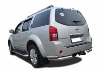 Защита штатного порога d53 для Nissan Pathfinder (2010-2014)