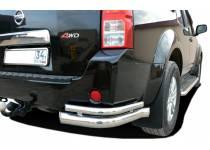 Уголки двойные d76/42 (с загибами) для Nissan Pathfinder (2005-2010)