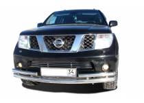 Защита переднего бампера d76/53 с боковой защитой для Nissan Pathfinder (2010-2014)