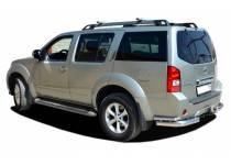 Уголки двойные d76/42 для Nissan Pathfinder (2010-2014)