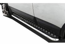 Пороги с накладным листом d60 для Nissan Qashqai (2007-2010)