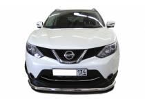 Защита переднего бампера d60 для Nissan Qashqai (2014-)