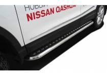 Пороги с накладным листом d60 для Nissan Qashqai (2014-)