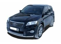 Защита переднего бампера двойная d60/42 для Toyota Rav4 (2010-2012)