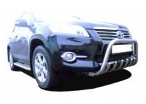 Кенгурятник низкий с защитой d76/60/42 для Toyota Rav4 (2010-2012)
