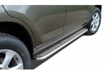 Пороги с накладным листом d53 для Toyota Rav4 (2010-2012)