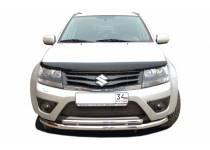 Защита переднего бампера двойная d60/42 для Suzuki Grand Vitara (5 дв.) (2012-2014)