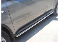 Защита штатного порога d60 для Nissan X-Trail (2007-2011)