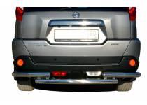 Защита заднего бампера двойная d60/60 для Nissan X-Trail (2011-2014)