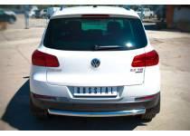 Защита заднего бампера d63 для Volkswagen Tiguan Sport & Style (2011-)