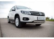 Защита переднего бампера двойная d75/42 для Volkswagen Tiguan Track & Field (2011-)
