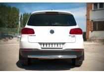 Защита заднего бампера d76 для Volkswagen Tiguan Sport & Style (2011-)