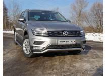 Защита передняя нижняя 60,3 мм (Пакет Offroad) для Volkswagen Tiguan (2017-)