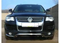 """Защита переднего бампера """"волна"""" d60 для Volkswagen Touareg (2007-2010)"""