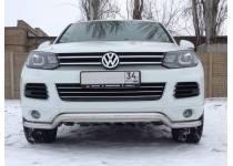 """Защита переднего бампера """"волна"""" d60 для Volkswagen Touareg (2010-2013)"""