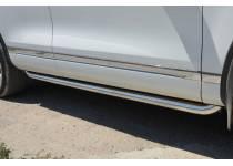 Защита штатного порога d60 для Volkswagen Touareg (2010-2013)