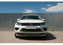Защита переднего бампера d63 для Volkswagen Touareg (2014-)