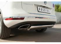 Защита заднего бампера d75х42 (дуга) для Volkswagen Touareg (2014-)