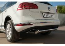 Защита заднего бампера d63 для Volkswagen Touareg (2014-)